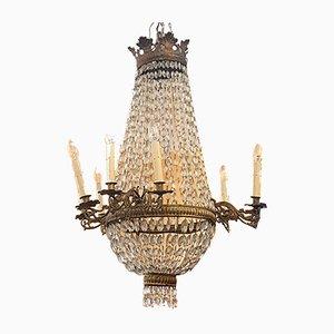 Lámpara de araña estilo Imperio antigua