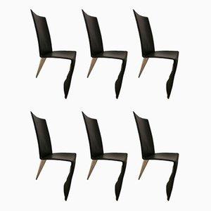 Esszimmerstühle von Philippe Starck für Aleph, 1980er, 6er Set