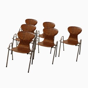 Vintage Dining Chairs from Tubax, 1960s, Set of 6