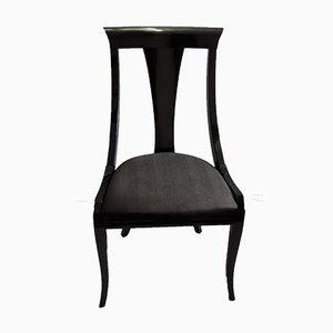 Black Gondola Chair from Pietro Constantini, 1980s