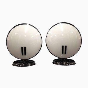 Lámparas de mesa modelo Pearl de Bruno Gecchelin para Oluce, 1989. Juego de 2