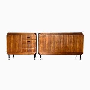 Scandinavian Teak Sideboards, 1980s, Set of 2