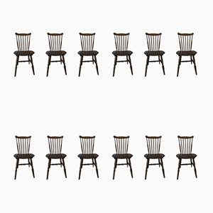 Dining Chair Set from Baumann, 1960s, Set of 11