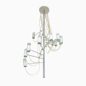 Lámpara de araña modelo A16 francesa Mid-Century de Alain Richard para Disderot, años 50