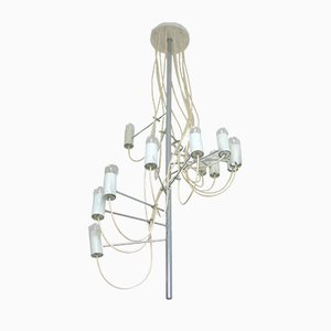 Mid-Century French Model A16 Chandelier by Alain Richard for Disderot, 1950s