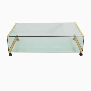 Italian Brass Coffee Table by Pierangelo Galotti for Galotti & Radice, 1970s