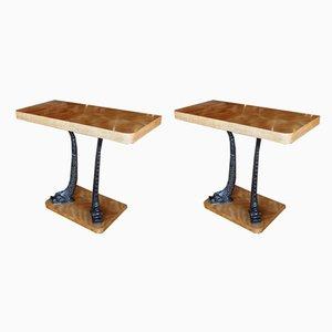 Tables Consoles, années 50, Set de 2