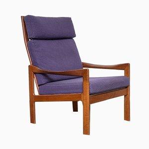 Dänischer Sessel mit Gestell aus Teak von Illum Wikkelsø für Niels Eilersen, 1960er