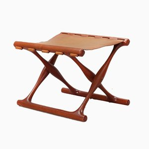 Folding Stool by Poul Hundevad, 1960s