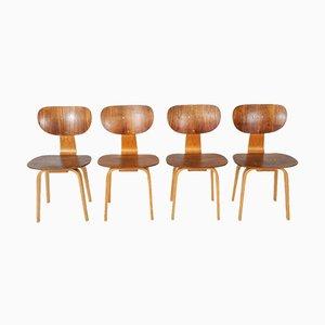 SB13 Esszimmerstühle von Cees Braakman für Pastoe, 1950er, 4er Set