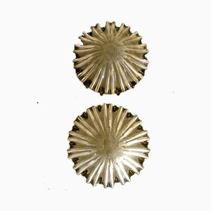 Gold Sconces from Mazzega, 1970s, Set of 2