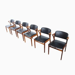 Rosewood Dining Chairs by Kai Kristiansen for Bovenkamp, 1960s, Set of 6
