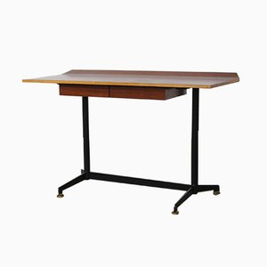 Rosewood Desk by Osvaldo Borsani for Tecno, 1950s