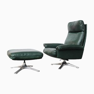 DS-21 Lounge Chair and Ottoman from de Sede, 1970s, Set of 2