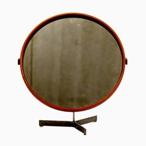Specchio in quercia di Uno & Östen Kristiansson per Luxus, anni '60