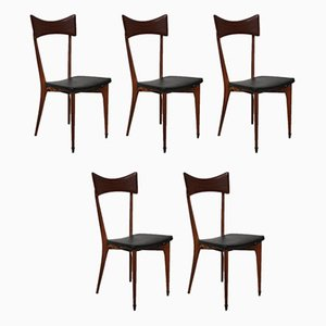 Dining Chairs by Ico Luisa Parisi for Ariberto Colombo, 1940s, Set of 5