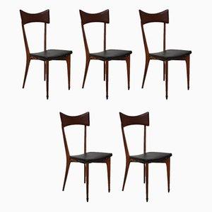 Esszimmerstühle von Ico Luisa Parisi für Ariberto Colombo, 1940er, 5er Set