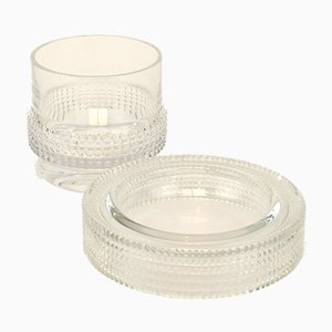 Crystal Ashtray and Glass Set from Peill & Putzler, 1960s
