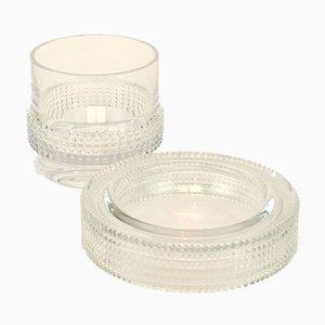 Juego de cenicero de cristal y vidrio de Peill & Putzler, años 60