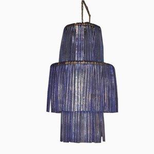 Deckenlampe aus Kunstglas, 1980er