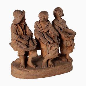 Escultura de loza antigua de Giuseppe Vaccaro