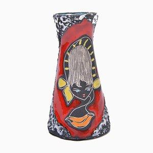 Kleine Mid-Century Fat Lava Vase, 1950er