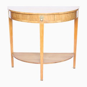 Art Deco Walnut Console Table, 1930s