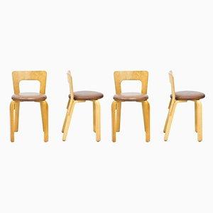Chaises d'Appoint 65 par Alvar Aalto pour Artek, 1970s, Set de 4