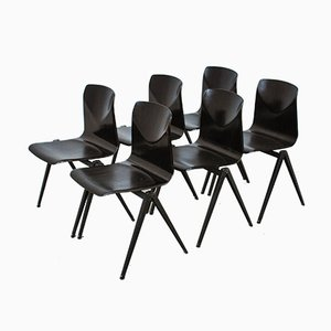 Industrielle Esszimmerstühle von Pagholz, 1970er, 5er Set
