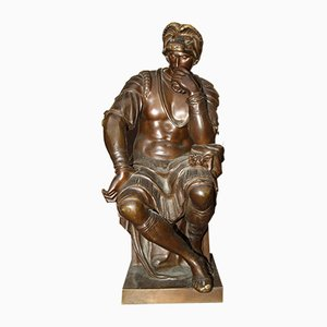 Escultura antigua de bronce de H Luppens