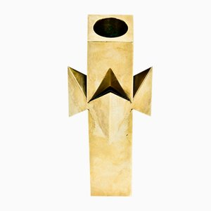 Brass Candleholder by Pierre Forssell for Skultuna, 1960s