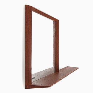 Teak Mirror by Uno & Östen Kristiansson for Luxus, 1960s