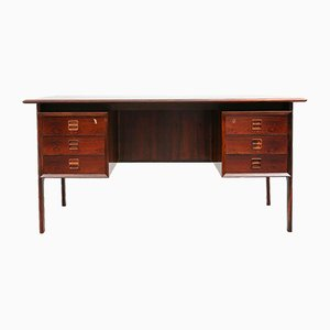 Danish Rosewood Desk by Arne Vodder, 1950s