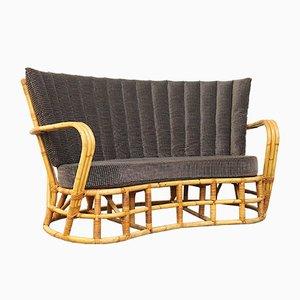 Sofá de bambú y ratán, años 60