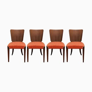 Art Deco Dining Chairs by Jindřich Halabala for Thonet, 1950s, Set of 4