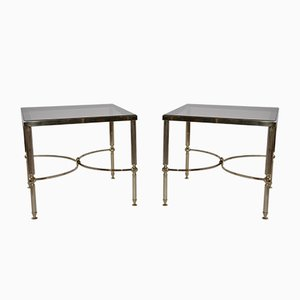 Brass Hollywood Regency Side Tables, 1970s, Set of 2