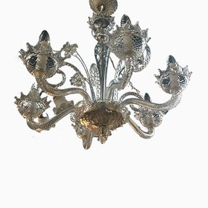 Venetian Murano Glass Chandelier, 1950s