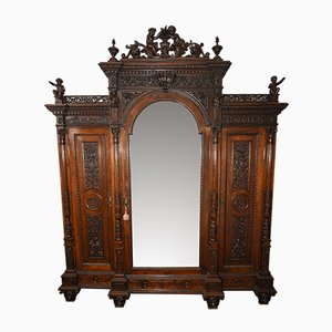 Antique Carved Walnut Cabinet