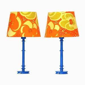 Lampade da tavolo di Uno e Östen Kristiansson per Luxus, anni '70, set di 2