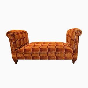 Sofá cama Hollywood Regency de terciopelo, años 30