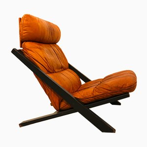 Leather Lounge Chair by Ueli Berger for de Sede, 1970s