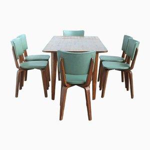 Juego de mesa y sillas de comedor de Cor Alons para Gouda den Boer, 1949