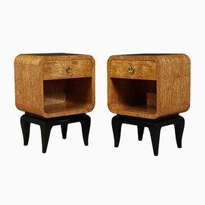 Tables de Chevet Art Déco, France, 1930s, Set de 2