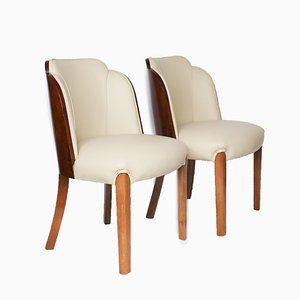 Art Deco Side Chairs, 1930s, Set of 2