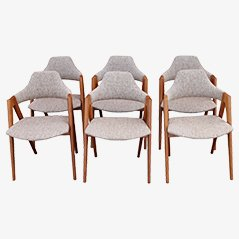 Compass Dining Chairs by Kai Kristiansen for Schou Andersen, 1960s, Set of 6