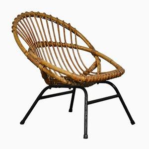 Chaise pour Enfant Mid-Century en Rotin de Rohe Noordwolde