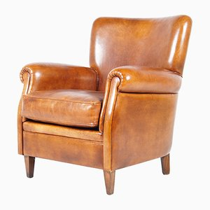 Dutch Leather Club Chair, 1970s