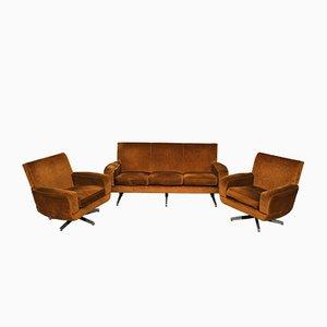 Set aus Sofa & Sessel von Manifattura Italiana, 1950er, 3er Set