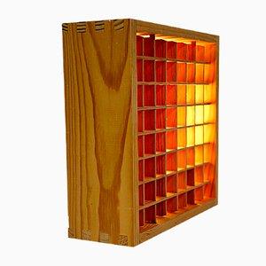 Deckenlampe aus Holz, 1970er