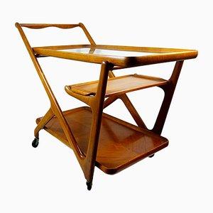 Teewagen aus Holz von Cesare Lacca für Cassina, 1950er